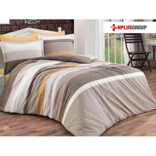 Lenjerie de pat din bumbac satinat - Ambra 5278