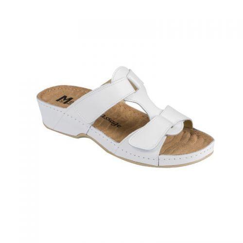 Papuci Medi+ 242 alb – dama