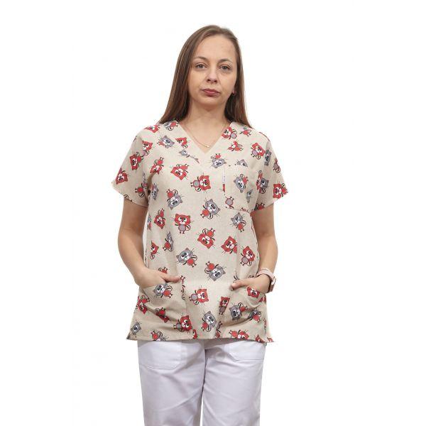 Bluza dama imprimata model 18